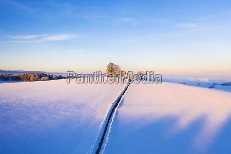 germany bavaria degerndorf winter landscape with