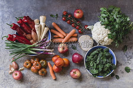 fresh vegetables and fruits from weekly