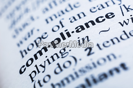 keyword in a dictionary compliance
