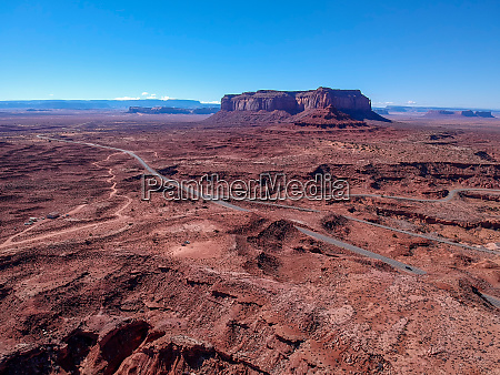 aerial view of monument valley arizona