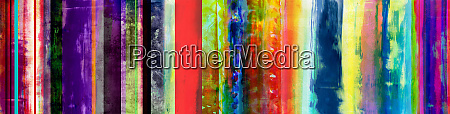 colorful mixed media stripes banner with