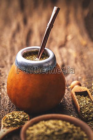 mate tea in calabash