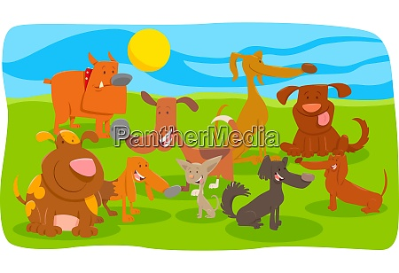 dogs and puppies cartoon animal characters