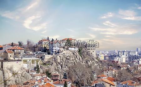 homes on the cliffs in plovdiv