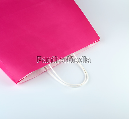 pink paper shopping bag with a