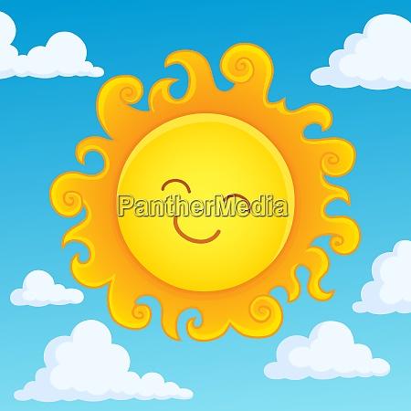 happy sleeping sun theme image 4