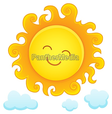 happy sleeping sun theme image 3