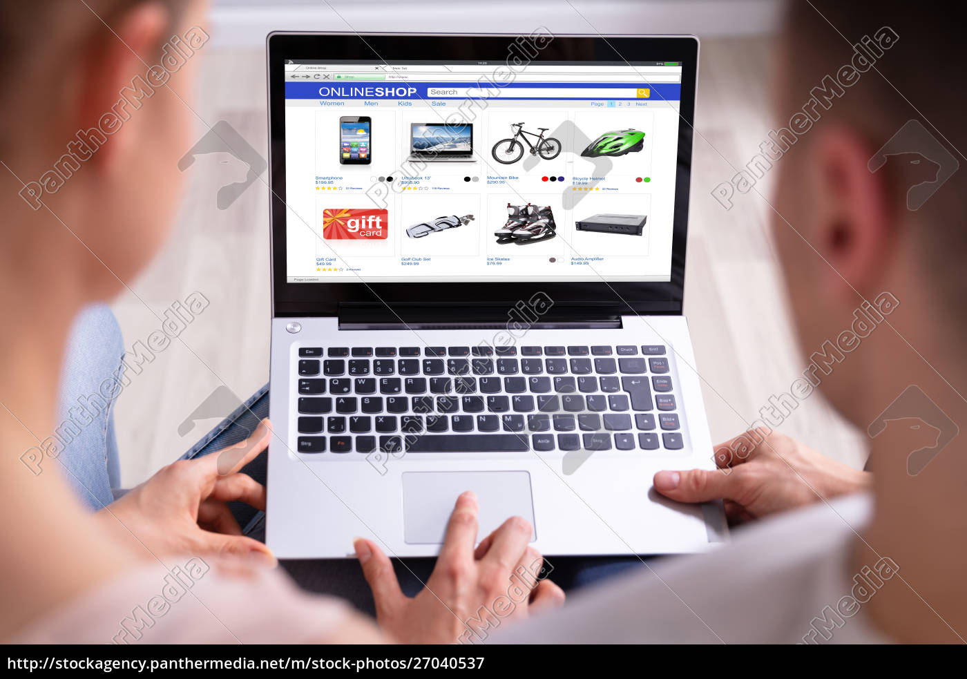 couple, shopping, online, on, laptop - 27040537