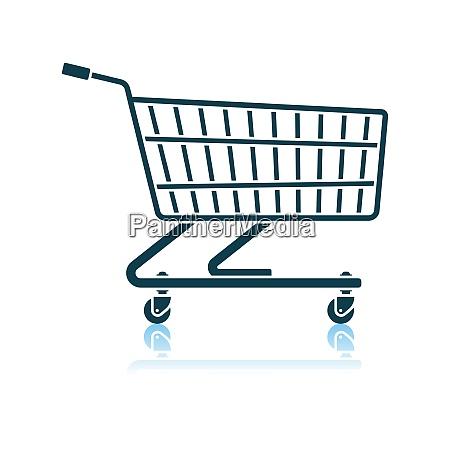 supermarket shopping cart icon