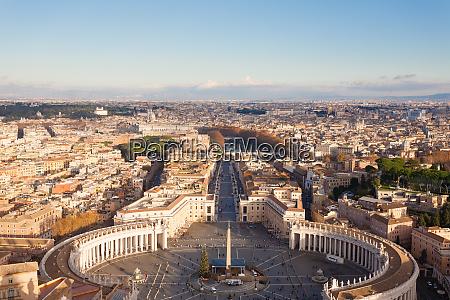 saint peter square aerial view vatican