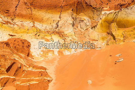 beautiful red sand dune and sand
