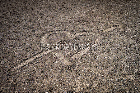 a love heart drawn in the