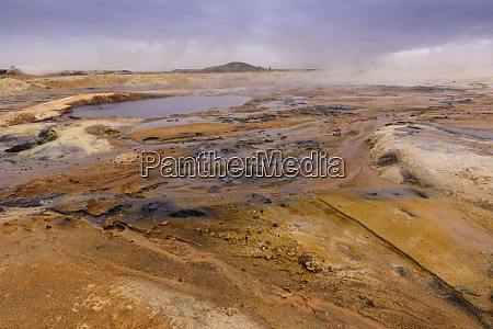 namafjall geothermal area in iceland europe