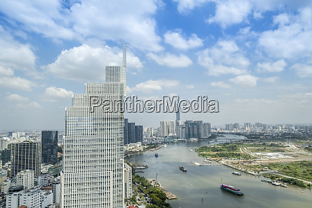 view of the city skyline and