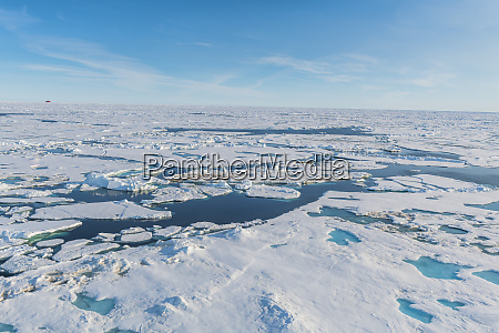 melting ice at north pole arctic