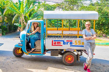 american women tourists on bemo vietnam