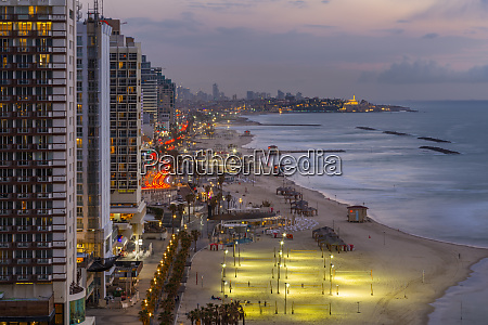 elevated view of the beaches and