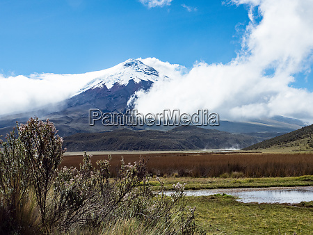 limpiopungo lake and cotopaxi volcano cotopaxi