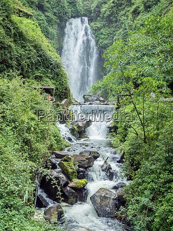 peguche waterfall near otavalo ecuador south