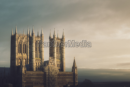 lincoln cathedral standing proud whilst being