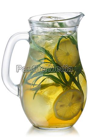 iced tarragon lemonade jug paths