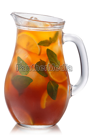 oregano lemon iced tea pitcher paths