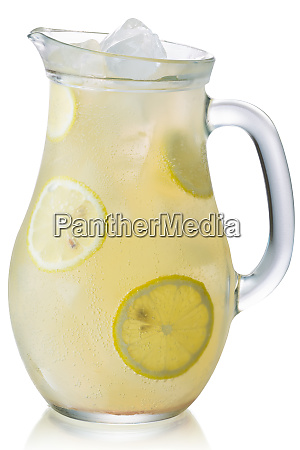 iced lemonade pitcher isolated paths