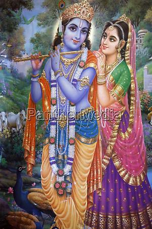 subramaniam swamy temple painting of krishna