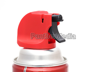 insecticide spray can isolated on white