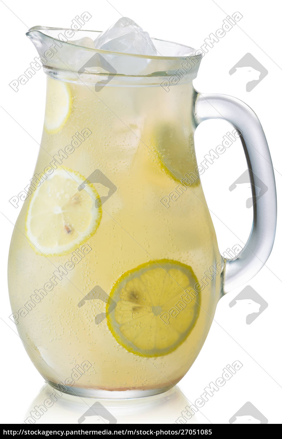 iced, lemonade, pitcher, isolated, , paths - 27051085