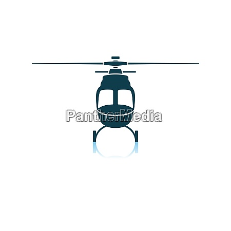 helicopter icon front view