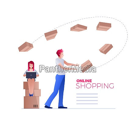 online shopping on smart phone or