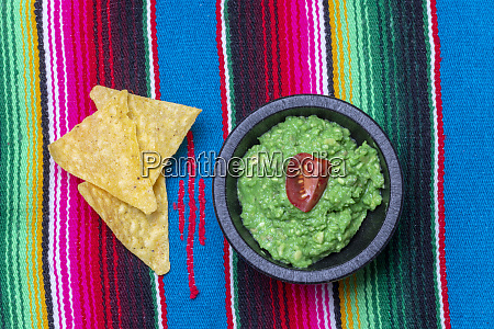 overview of guacamole on wood
