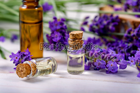 lavender essential oil bottles beauty care