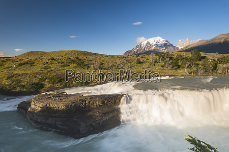waterfall torres del paine national park