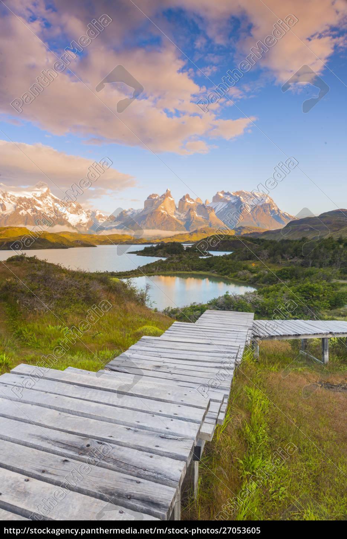boardwalks, at, lake, pehoe, , torres, del - 27053605