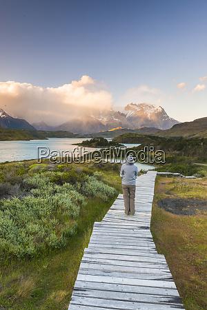 boardwalks, at, lake, pehoe, , torres, del - 27053610