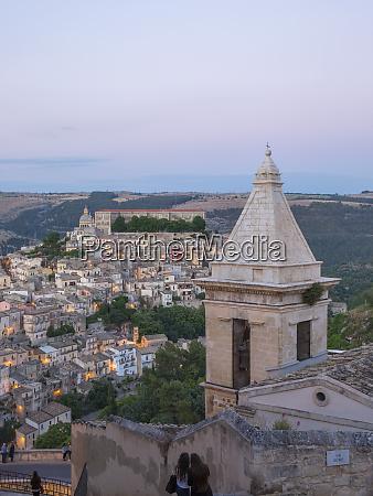 view over ragusa ibla dusk bell