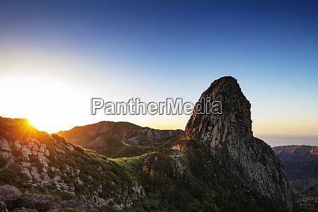 roque de agando garajonay national park