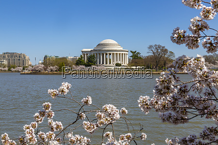 view of the thomas jefferson memorial