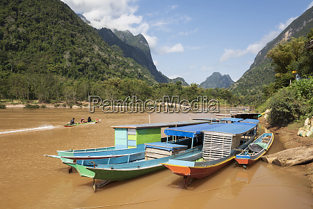 boats docked on the nam ou