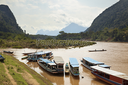 boats on the nam ou river