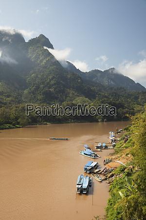 nam ou river with karst peaks