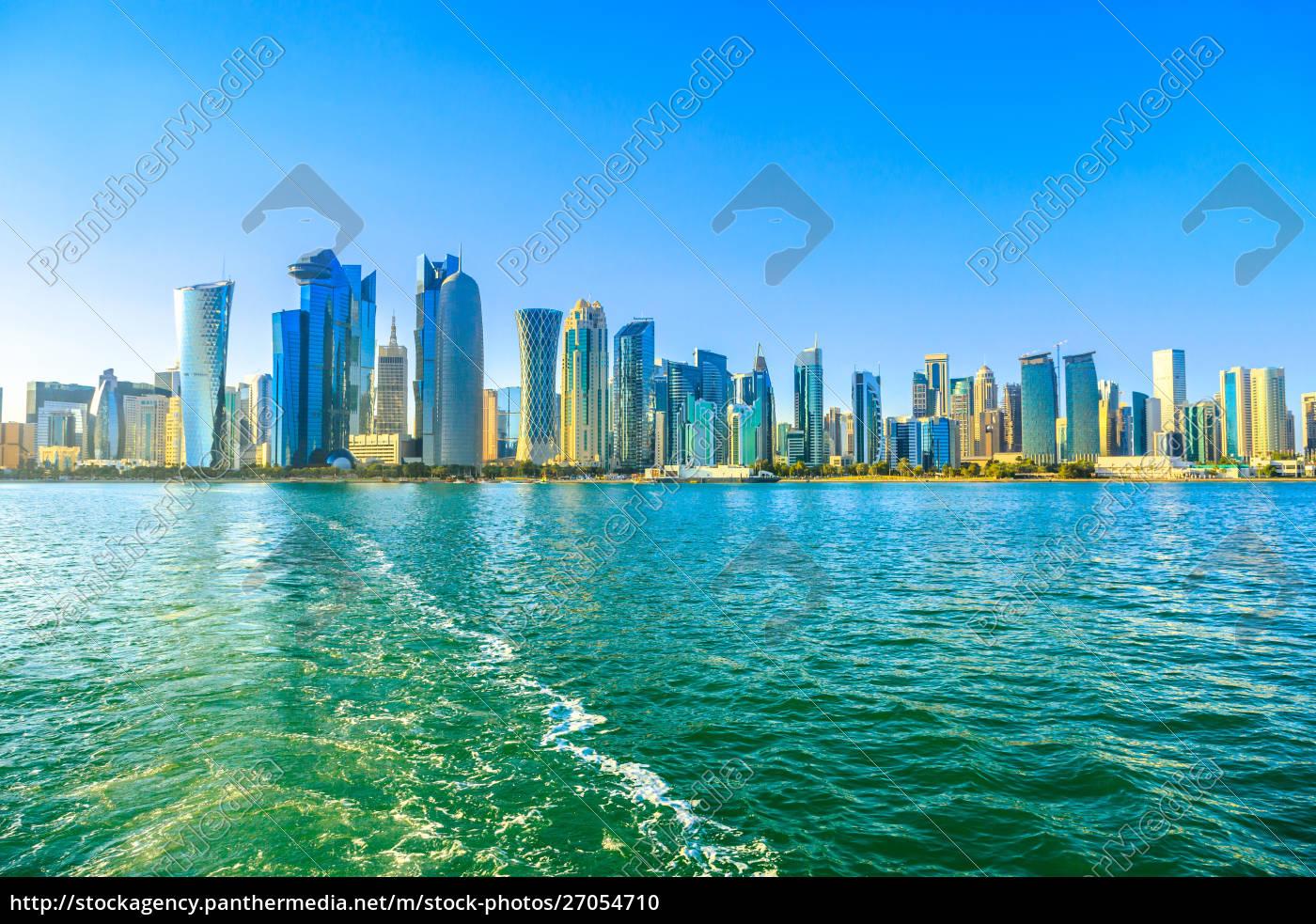 cityscape, of, doha, west, bay, skyline - 27054710