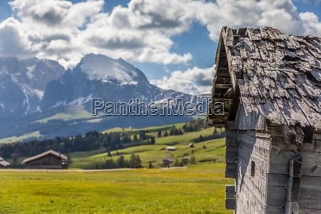alpine huts on the alpe di