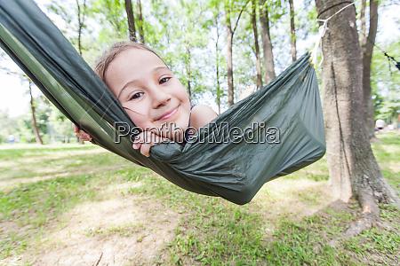 happy portrait of little girl relax