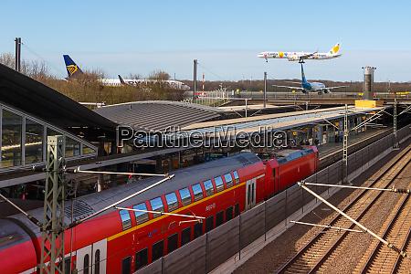 railway station at dusseldorf airport dus