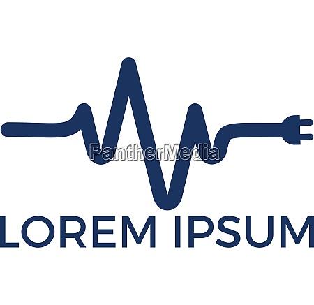 pulse electrical logo design