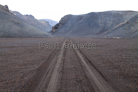 desolate landscape from askja caldera area