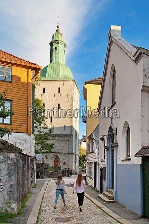 cathedral bergen norway scandinavia europe